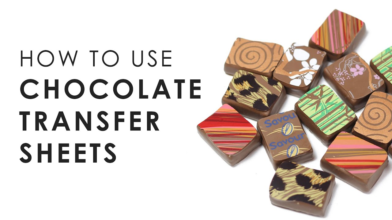 How To Use Chocolate Transfer Sheets Savour Chocolate Patisserie