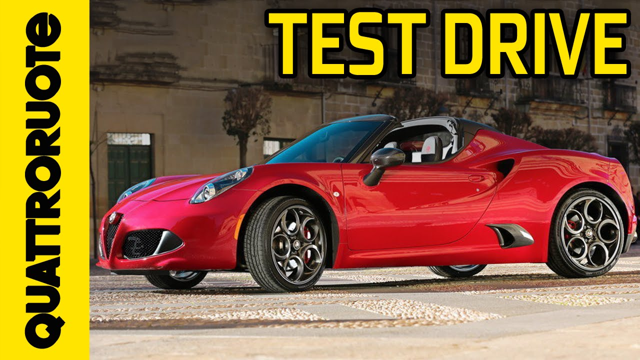 Alfa Romeo 4c Spider 2015 Test Drive Youtube