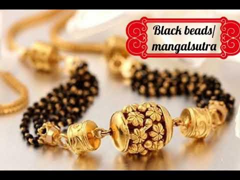 New Model Black Beads/Mangalsutra# Latest Trend... Gold Mangalsutra Models, Nalla Pusala Designs