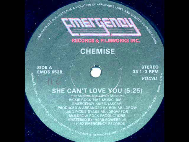 Chemise - She Can't Love You (1982) HD AUDIO.wmv