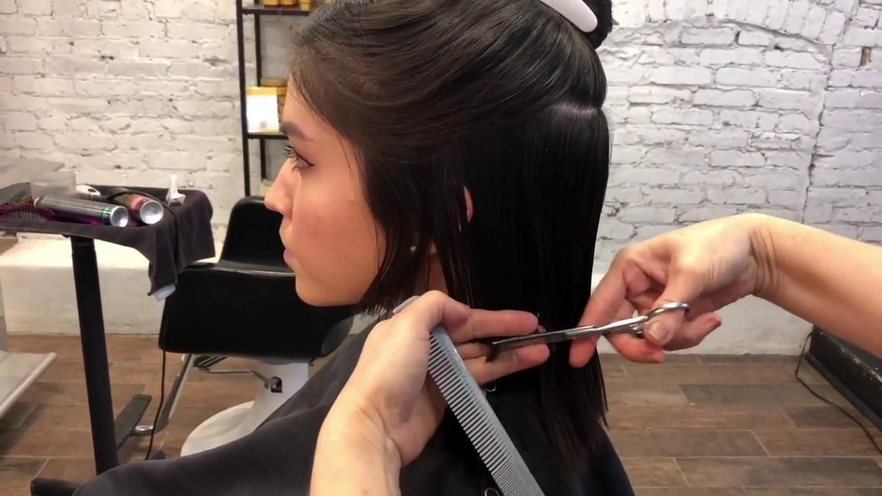 Textured Bob Haircut At Cavalry Salon Youtube