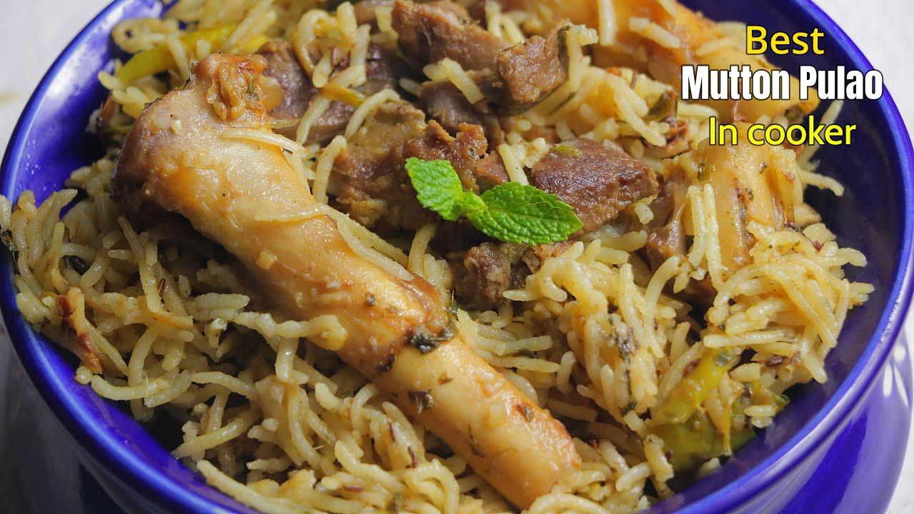 100% బెస్ట్ మటన్ పులావ్ కుక్కర్లో | Easy Mutton Pulav in Cooker | @Vismai Food   Mutton pulao recipe