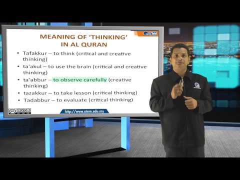 Part 1: Creative & Critical Thinking From Islamic Perspective