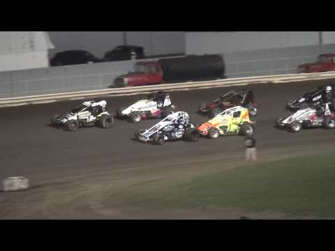 IOWA Sprint Car League feature Pepsi Lee County Speedway 9/14/19