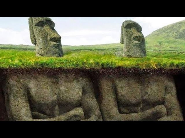 頭だけと思われていたイースター島のモアイ像、実は体があるって知ってました!?