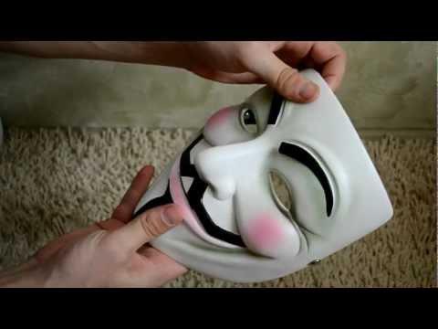Маска Гая Фокса (Anonymous) из фильма V for Vendetta