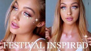 dj suki inspired pink festival makeup