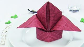 Napkin folding Bishop's Hat or Lily, EASY napkins folding TUTORIAL