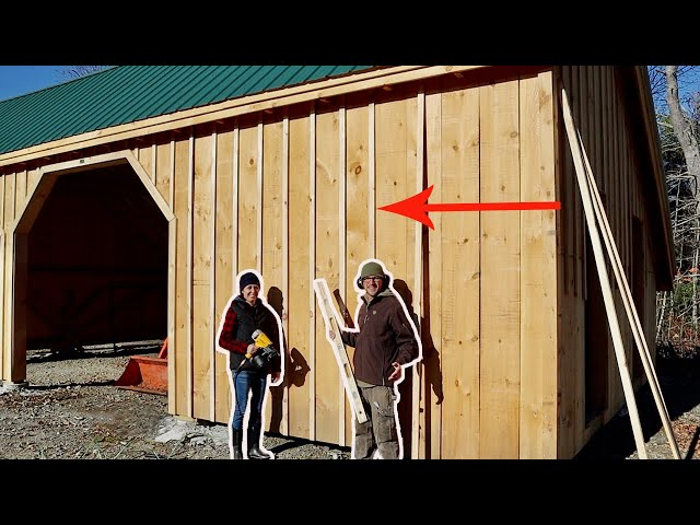 This Changes the Whole THING Husband & Wife Build Post & Beam DIY Garage Kit (Baton Strips)