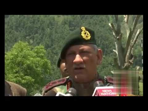 Indian army Chief General Bipin Rawat interacting with media persons