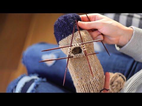 Способы вязания пальца на варежке спицами