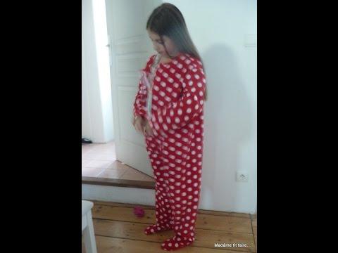 tuto pour coudre facilement une grenouill re sur pyjama youtube. Black Bedroom Furniture Sets. Home Design Ideas
