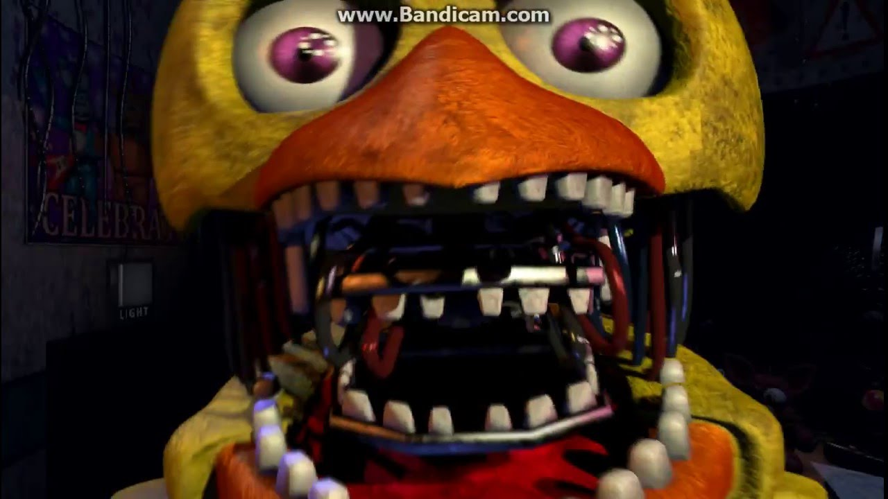 Fnaf 2 old chica withered chica jumpscare youtube