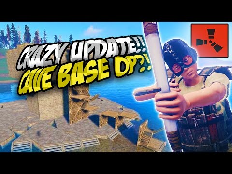Epic Cave Base! Crazy New Update! - Rust Solo Survival