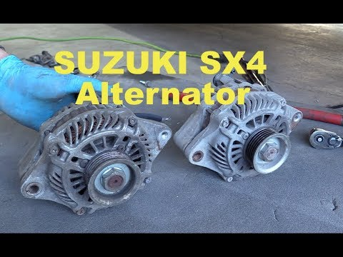 Suzuki SX4 2.0 AWD Alternator replacement.