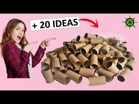 De 20 Manualidades Geniales Con Rollos De Papel Higiénico Reciclaje Youtube