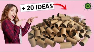 + 20 INCREDIBLE IDEAS WITH TOILET PAPER ROLLS (RECYCLING)