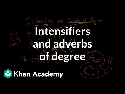 Intensifiers And Adverbs Of Degree | Modifiers | The Parts Of Speech