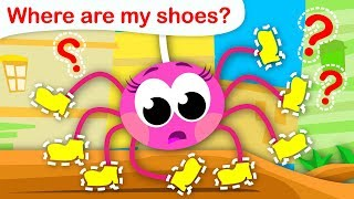 Where Are My Shoes? | Itsy Bitsy Spider Lost her 8 Little Shoes |  Kids Songs by Little Angel