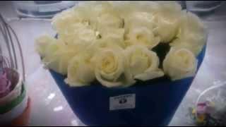 видео Букет из 25 белых роз