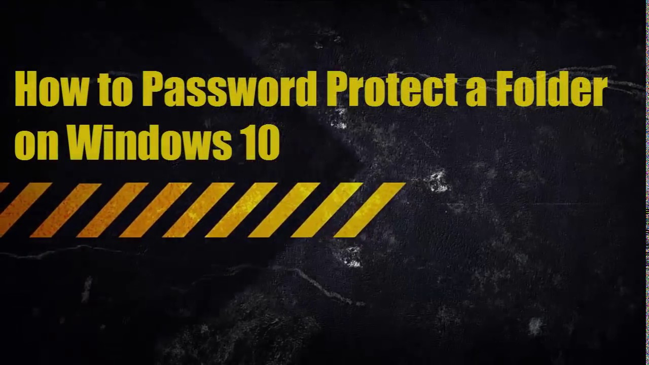 how can i password protect a zip file in windows 10