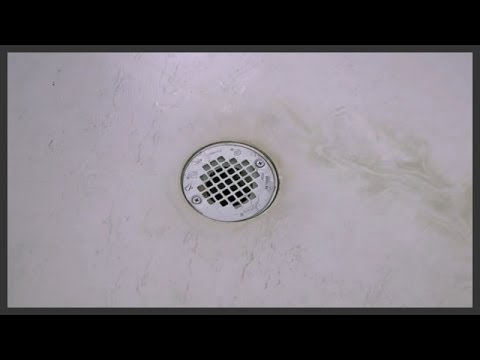 Shower drain cover replacement - YouTube