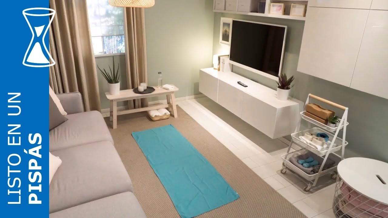 Un espacio para yoga en el sal n en un pisp s ikea youtube - Espacio para el yoga ...