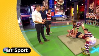Pitch Demo: Sam Warburton breakdown masterclass | Rugby Tonight