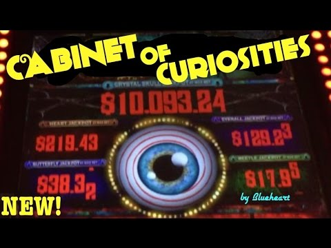 CABINET OF CURIOSITIES slot machine Progressive Pick and Bonus WINS! (Multimedia gaming)