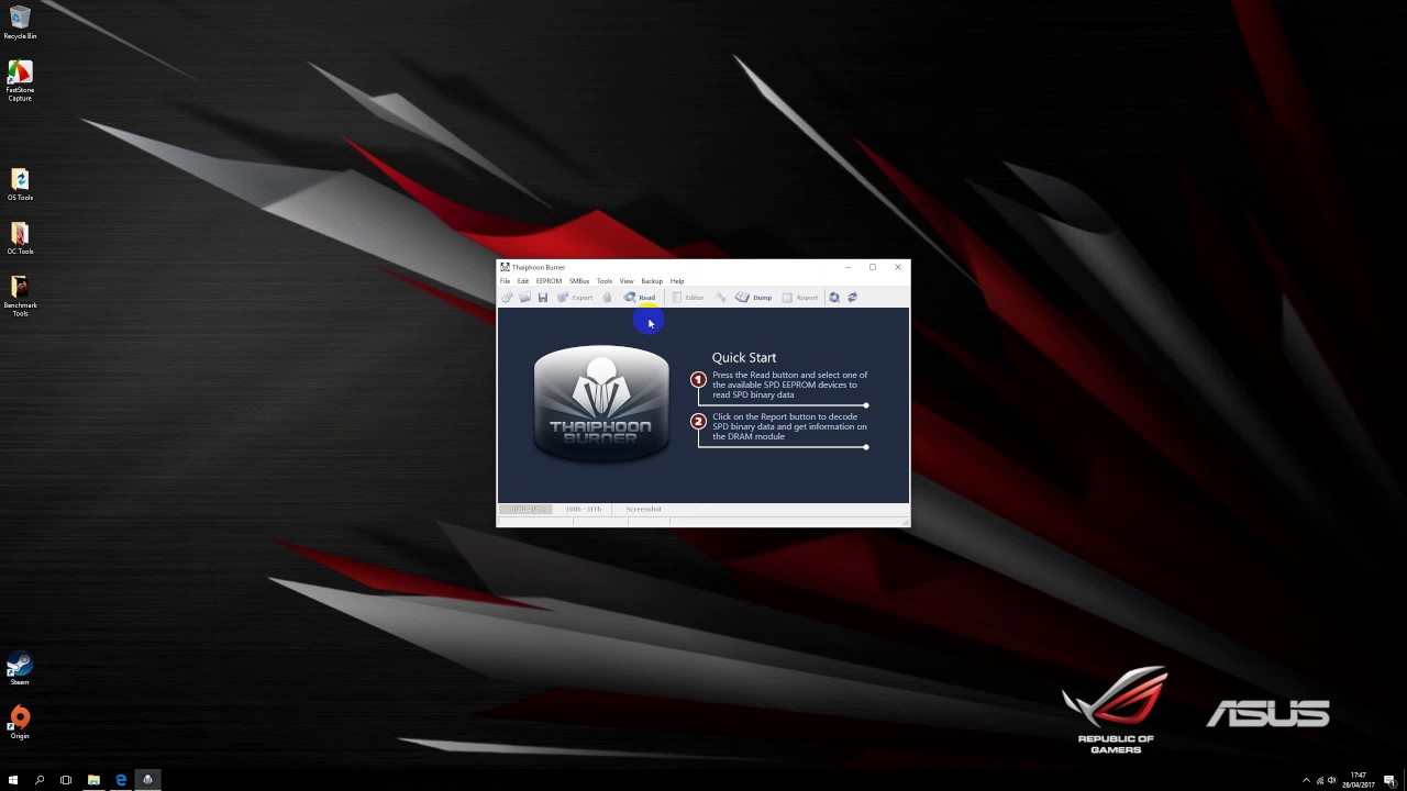 Using Thaiphoon Burner to gain RAM information - YouTube