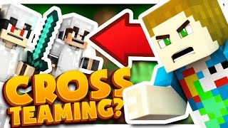 THE CROSS TEAMING DUO OF DEATH!! - Minecraft Bed Wars