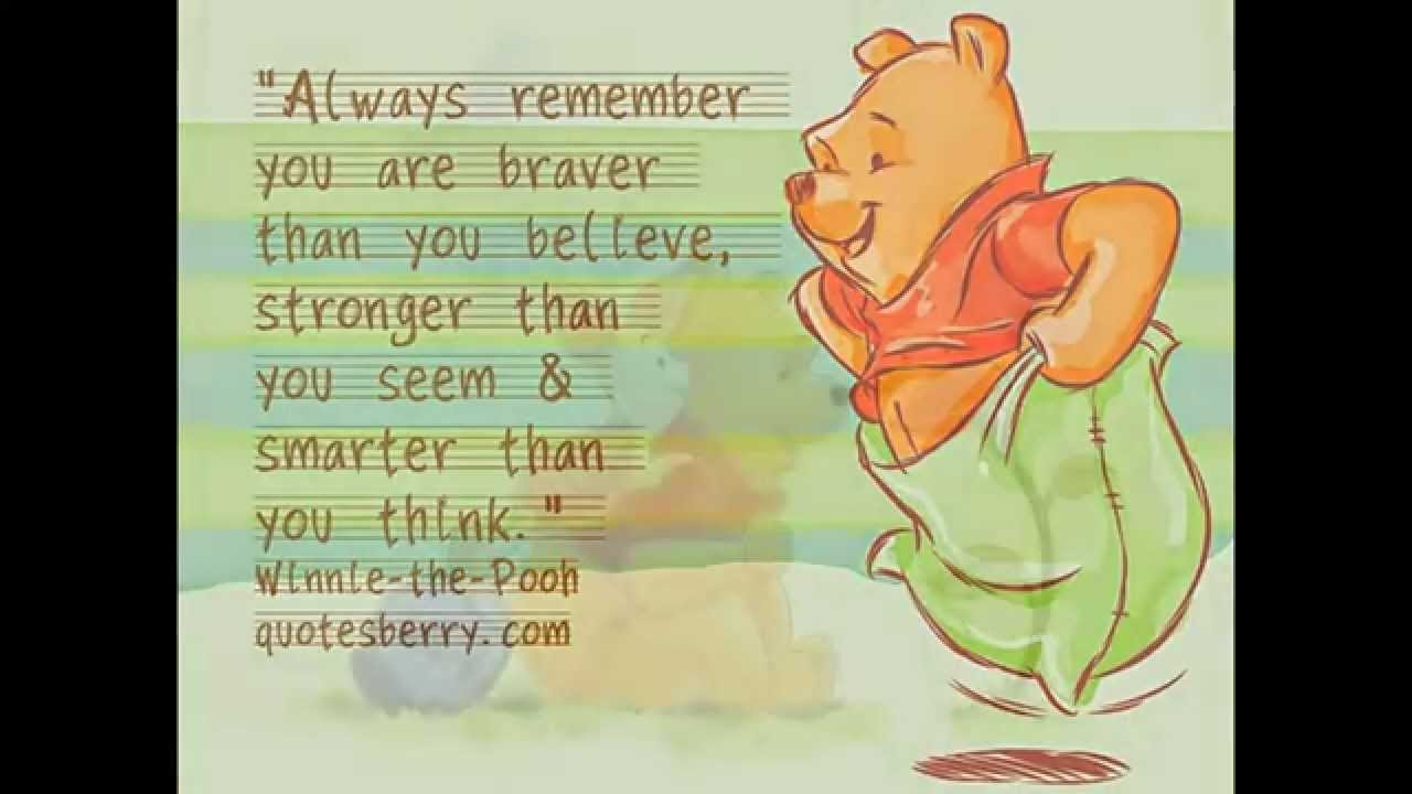 Quotes Winnie The Pooh Winnie The Pooh Quotes  Youtube