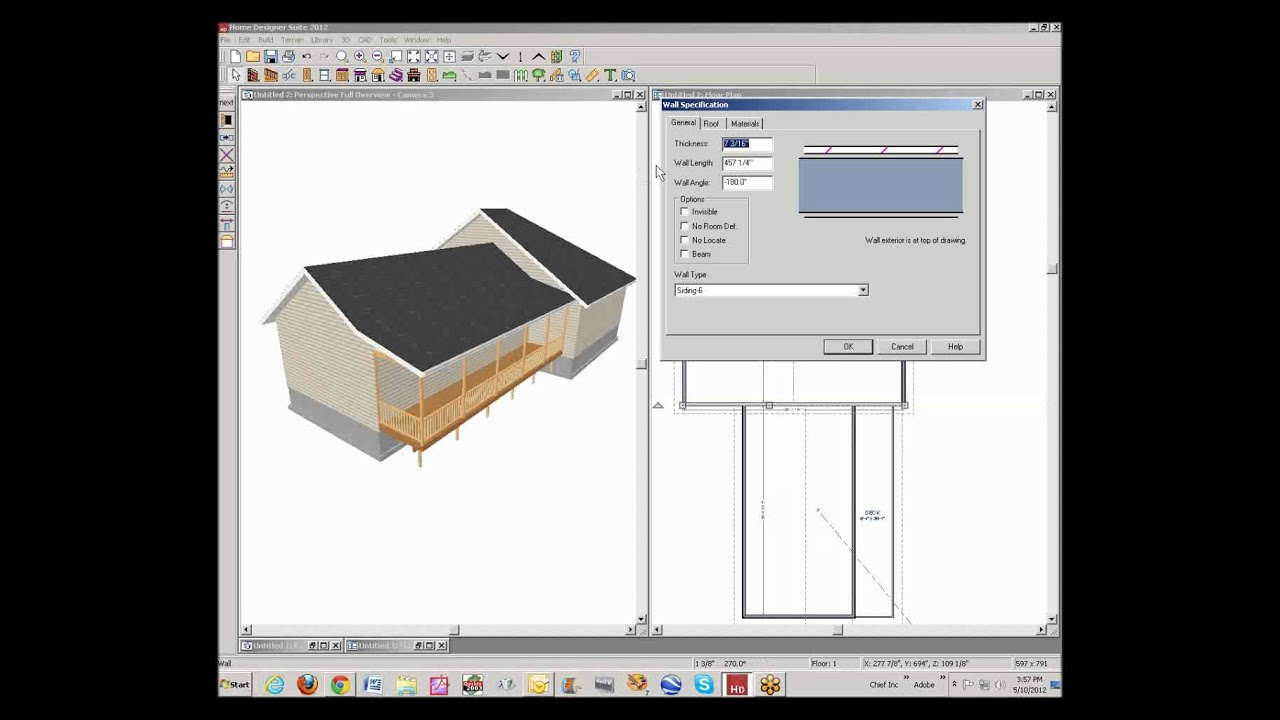 home designer suite 2012 roof design - youtube