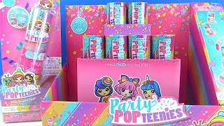 Party Pop Teenies Party Popper Surprise 6 Sürpriz paket Double Surprise oyuncak bebek herkes partiye
