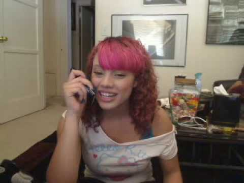 Indiqo on the phone with Asia Lynn