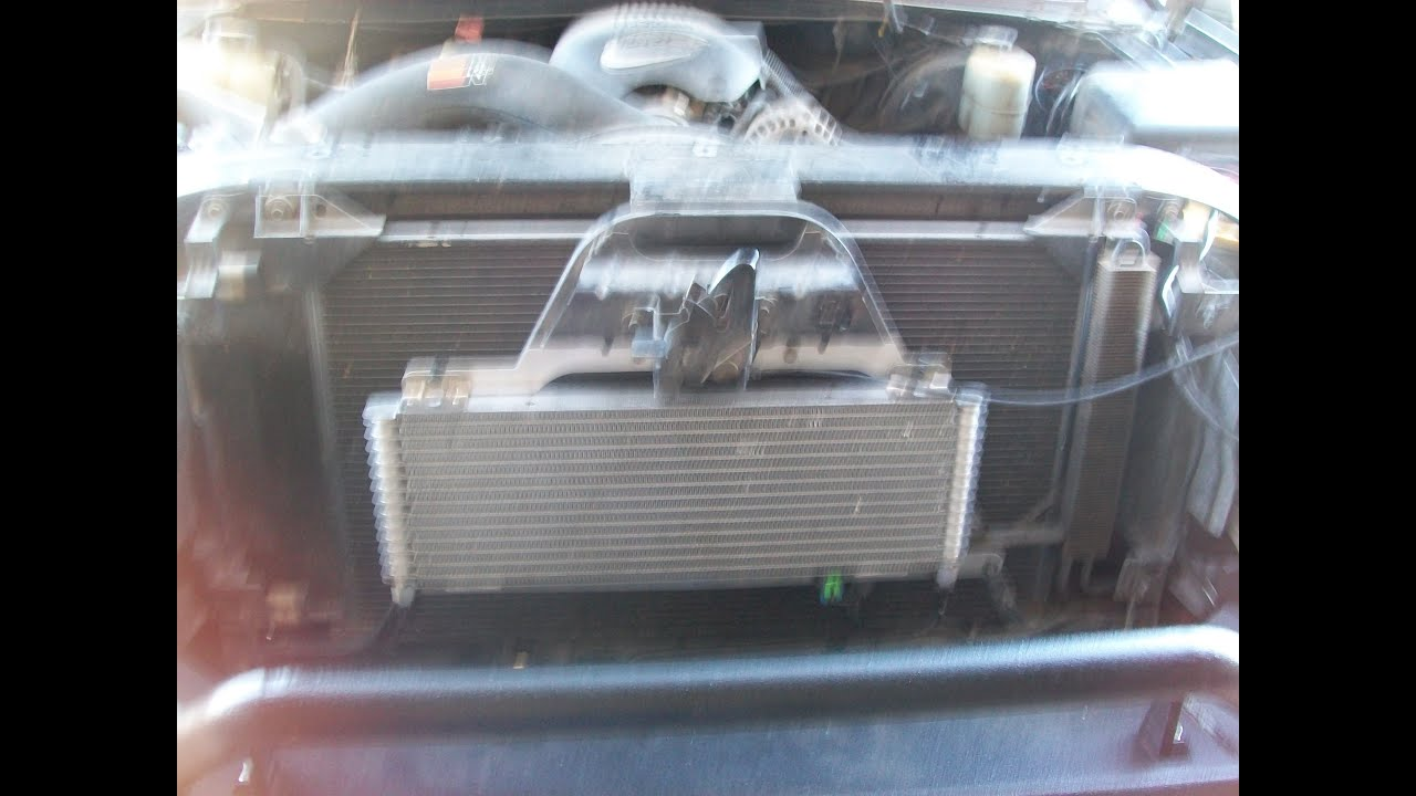 aftermarket gm transmission cooler install 99-06