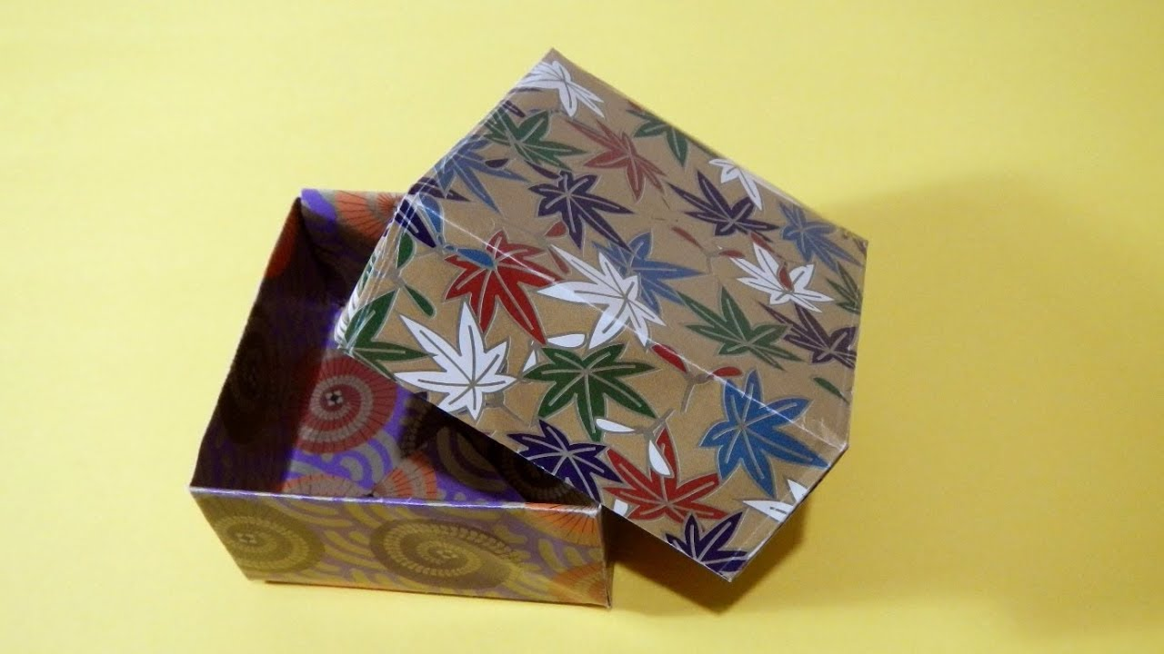 Origami how to make a box with lid youtube jeuxipadfo Image collections