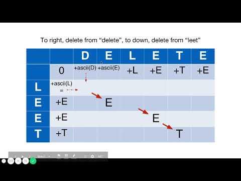 Minimum ASCII Delete Sum for Two Strings - YouTube