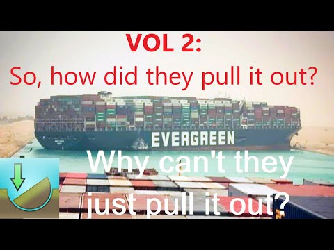 How did they pull out the vessel Ever Given? The vessel owned by Evergreen