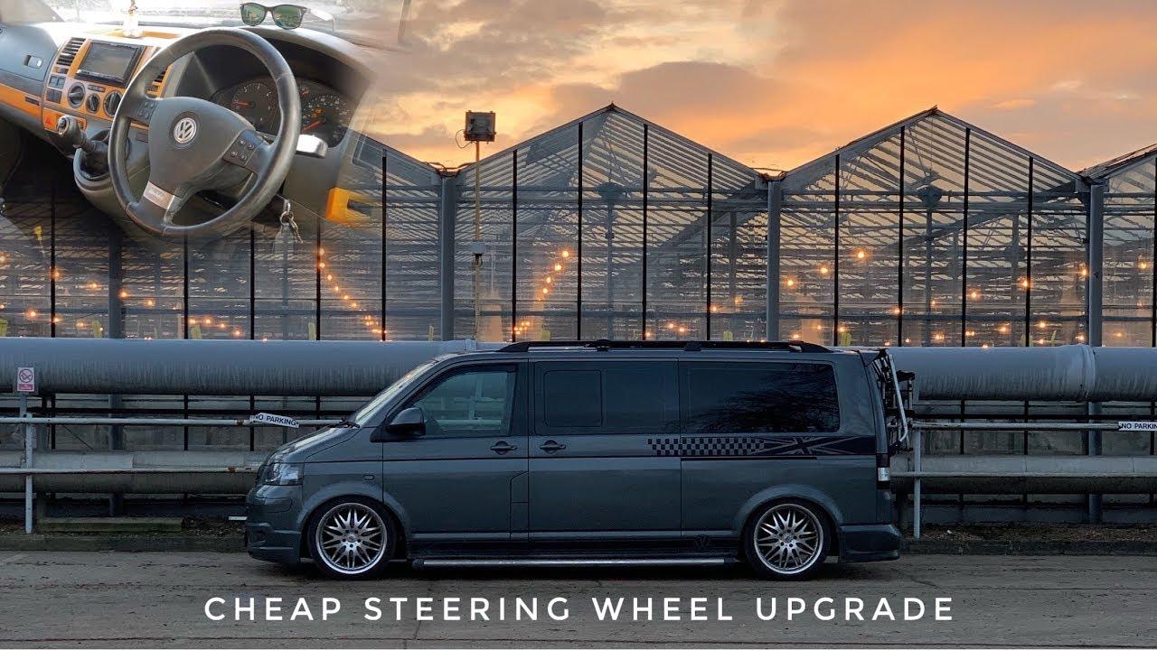 VW Transporter T5 - cheap steering wheel upgrade