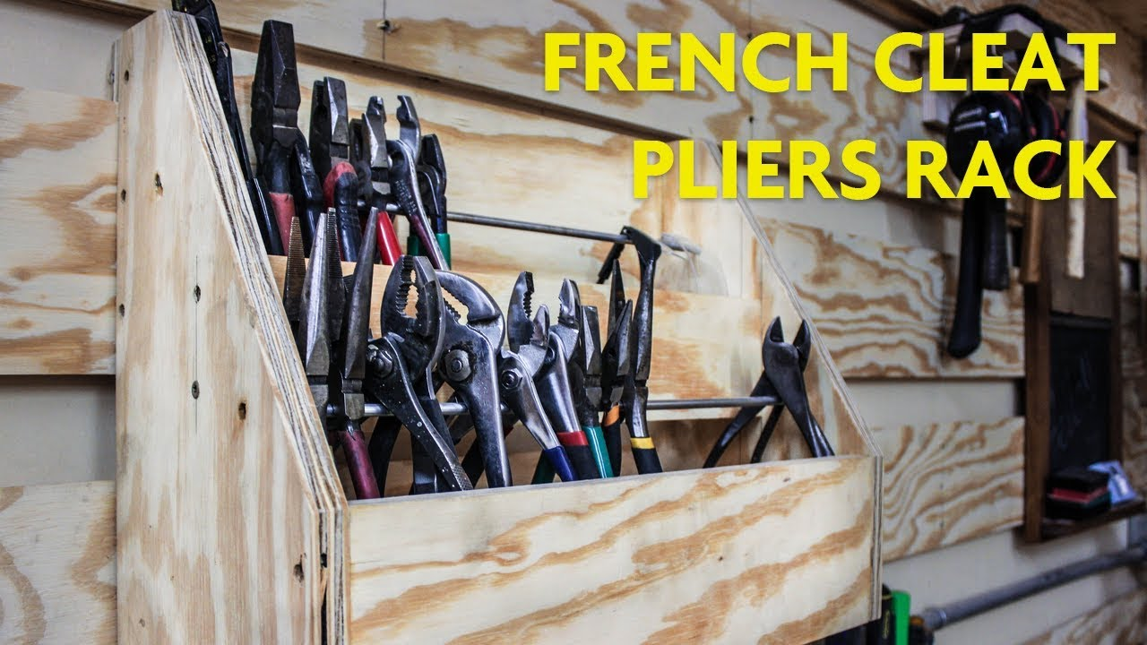 French Cleat Pliers Rack - SHOP ORGANIZATION