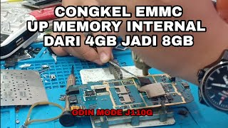 J110G ODIN MODE LANSUNG GANTI EMMC GTAC INTERNAL UP 8GB