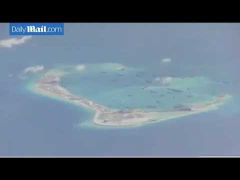 U.S. spy jet hover on South China Sea