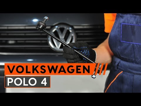 How to replace anti roll bar links on VW POLO 4 [TUTORIAL AUTODOC]