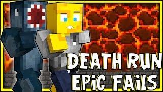 Minecraft - Death Run FAILS! W/AshDubh!