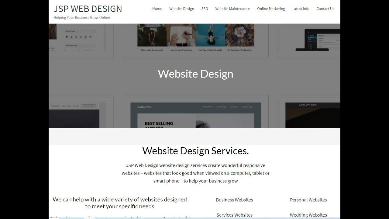 JSP Web Design