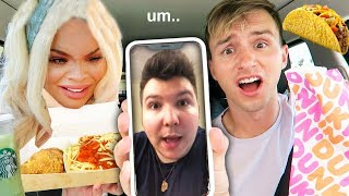 LETTING CELEBRITIES & YOUTUBERS DECIDE WHAT I EAT FOR 24 HOURS