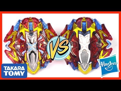 BUSTER XCALIBUR vs XCALIUS X4!! Takara Tomy VS Hasbro Battle | Beyblade Burst Cho-Z Turbo