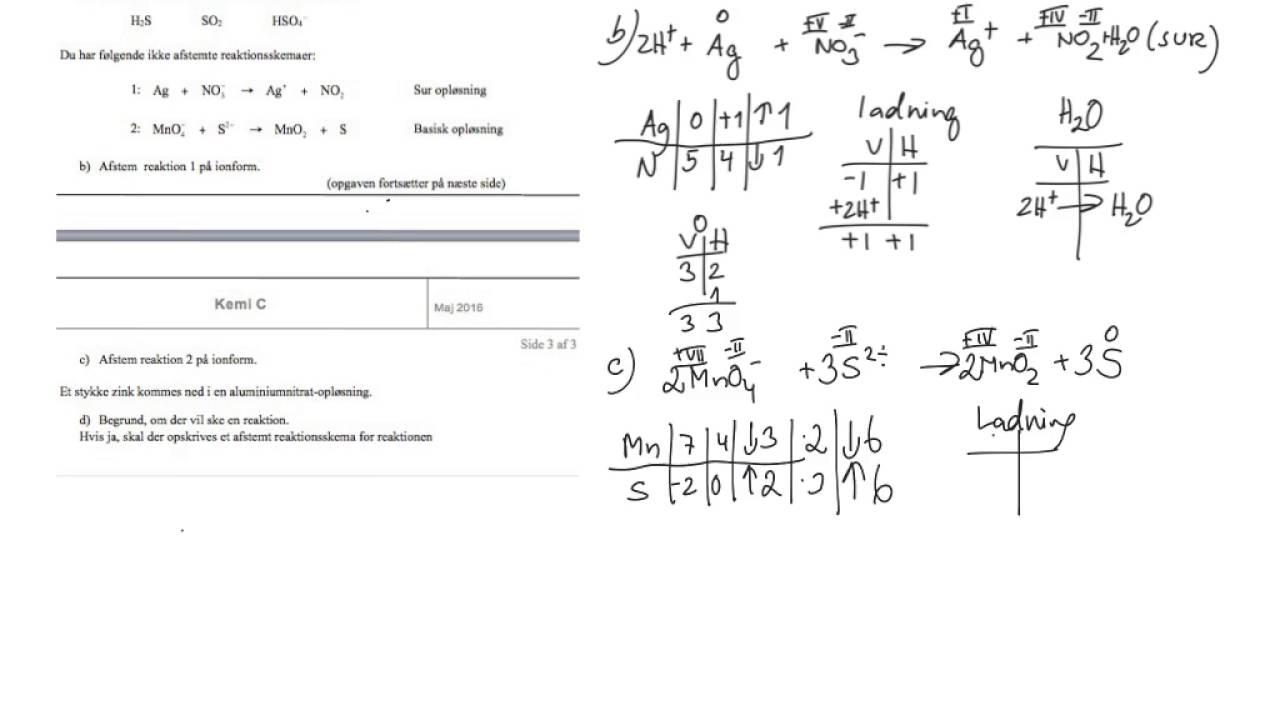 kemi c prøveeksamen maj 2016 opgave 5