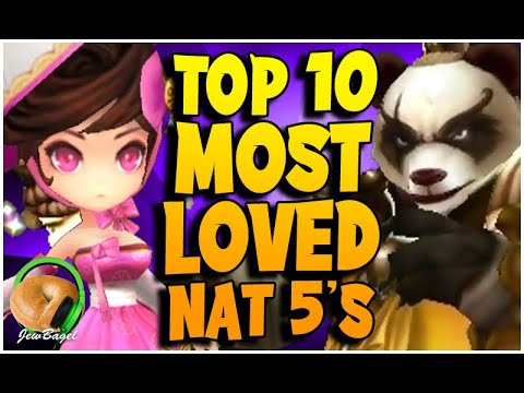 Top 10 MOST LOVED NAT 5's in Summoners War!